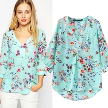 MS65230W women printed floral product type blouse