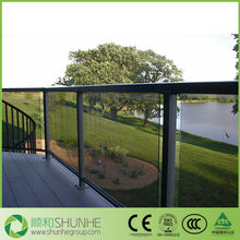 flat tempered glass fence panels