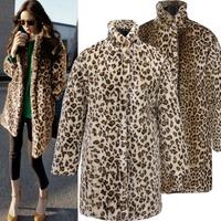 2015 Sexy Leopard Fur Long Winter Women Clothing