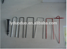 galvanised steel zinc plated round shape hook pin with weedmat usable for tents, Greenhouses