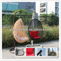 SW-1 outdoor PE rattn egg chair rattan hanging chair