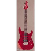 Custom Electric Guitarra Red headstock