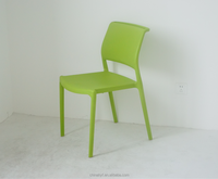 injection mould plastic armless plastic green chair for hotsale PP-157A2