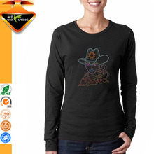 OEM Ladies Long Sleeve Slim Fit 100% Cotton T-shirt