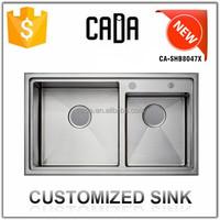 Cadia New Design OEM Topmount Hand Wash Kitchen Stainless Steel Sink