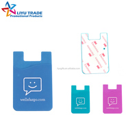 promotional 3m sticker silicone smart wallet for mobile phone
