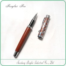 2015 metal carving wooden ball pen with pen case sets