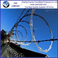 BTO & CBT cross type spiral ribbon razor wire(Anping YIZE real factory)