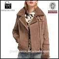 Moda de 2015, chaquetas baratas de invierno 2014 con forro interior de piel y abrigos para mujer con cuello de piel