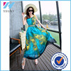 Wholesale new peacock prom dress dazzling long maxi dress from China manufacturers