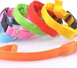 2015 New arrival dog leash lead/ Pet Collar Flashing LED Lighted Dog lead/ Dog Harness/Pet Leashes