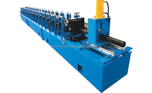 1.5 - 2mm Thickness 12 Station Roller Door Rail Roll Forming Machine
