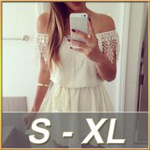2015 Latest Design European Simple Collar Lace Short Casual Charming Dress