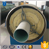 Underground heat supply pipe steam insulation pipe wrapped rock wool and aluminum foil for steam supply
