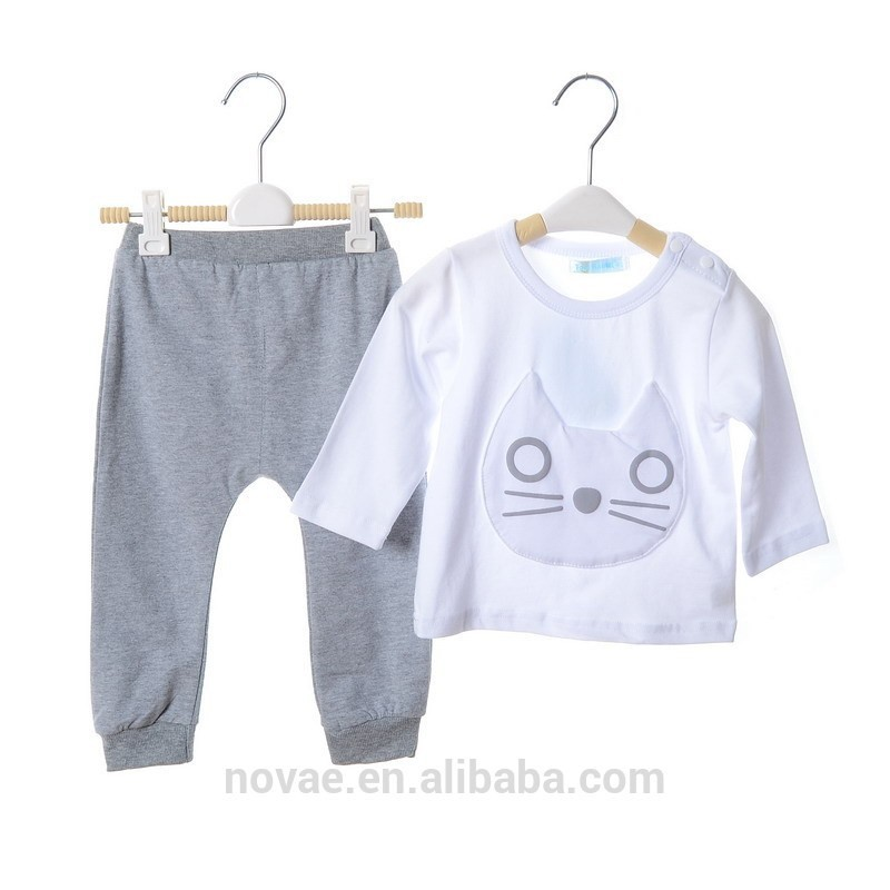 Wholesale baby boys girls clothes 0 1 year old kids clothing sets children s clothing 1 2