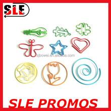 flower / butterfly / star/ heart / clover shaped PET coat paper clip