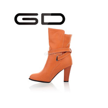 GD Simple elegance women's boots easy to pull-on construction smooth leather lining boots