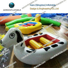 Inflatable water cartoon boat/flying inflatable water sled