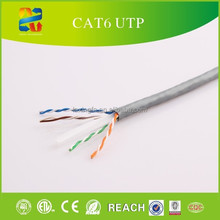 China cable factory high quality 100% fluke passed rohs jacket lan cable 4 pair 23awg cat 6 utp cable