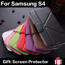 High Quality PU Leather Mobile Phone Case For Samsung Galaxy S4