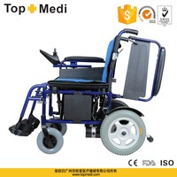 Rehabilitation Therapy Supplier Properties China Topmedi new aluminum folding electric motorized wheelchairs for sales