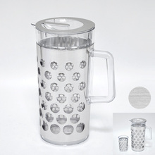 Clear AS chrome color cute water plastic pitcher