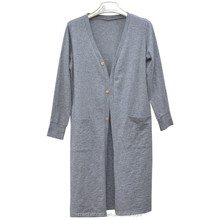 leisure women cardigan long sleeve grey knitted loose coat European and American style vintage fashion coat