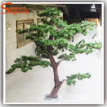 Factory direct pine needle christmas tree fiberglass potted pine tree landscape artificial pine tree branches