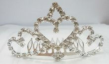 Sivery queen tiaras crystal rings crown shaped