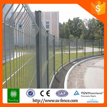 Anping Factory Powder coated Curved Mesh Fence Panels / Curved Wire Mesh Fence / Powder coated 3D Metal Fencing