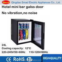24L energy saving hotel mini bar refrigerator glass door mini refrigerator glass door mini bar fridge