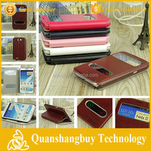 Hot sale View Window Flip Leather Case for Samsung Galaxy Note2 Note 2 II N7100