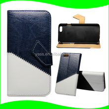 For iPhone 6 Plus case, Oil leather Wallet Stand Flip Cell Phone Case for APPLE iPHONE6 plus 5.5 inch Flip Stand Navy Style