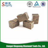 Granite tile cutting diamond segment tips for multi blade