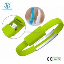 Christmas gift Bracelet usb charge cable, Wearable mobile phone data cable