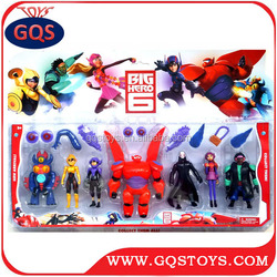 High Quality New Style plastic 4 inch big hero 6 toy