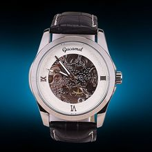 Latest low price mechanical silver tone watch
