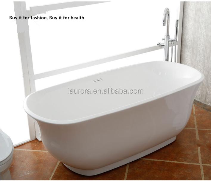 Hot sale big sizes fiber acrylic bathtub freestanding for European steel enamel bathtub