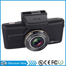 car black box 1080P full HD sony chips IMX32 car dvr with Wide dynamic GPS, g-sensor,back up camera input