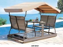 2015 4-seat new power swing chair garden swing set Teslin aluminum waterproof hot-sale swing