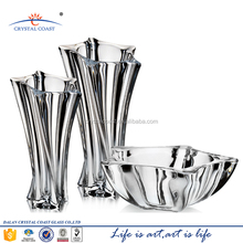 Wholesale recycled star shape clear lead crystal glass vase martini for flower