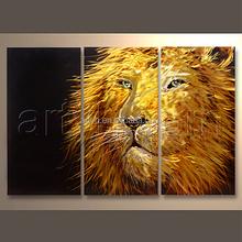 High Quality Modern Lion Animal Painting Metal Art For Decor