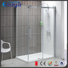 Frameless glass screen sliding hydro glass shower enclosure for free standing