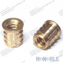 China factory direct white zinc alloy insert nut,wood insert nut