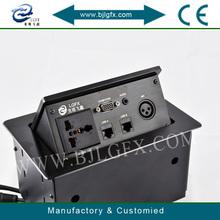 Multimedia tabletop socket desktop socket box 3 phase plugs and sockets