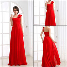 RT005 Real True person model Georgette One Shoulder evening gown 2012