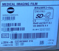 Konica SD-Q dry laser medical x-ray film
