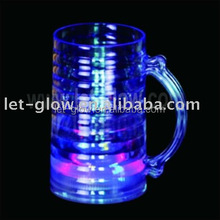 350ml Plastic Light up Multicolour Beer Mug Blinking Frosty Mug Blinking LED Tall Beer Mug Gleaming Beer Glasses