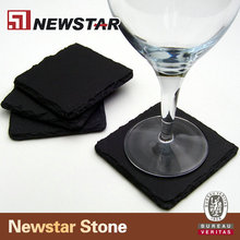convenient black slate stone serving tray/plate/cup dinnerware