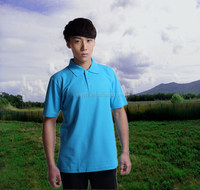 Blue work polo shirt for men